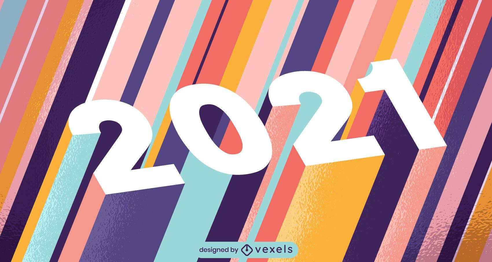 2021 diseño de ilustración 3d