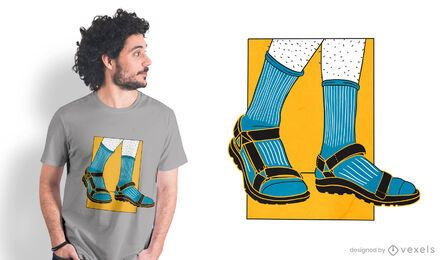 Socks sandals t-shirt design
