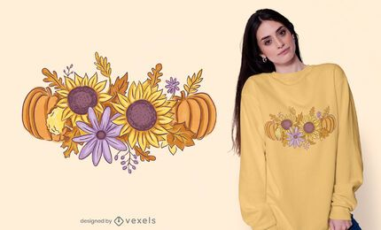 Herbststrauß-T-Shirt Design