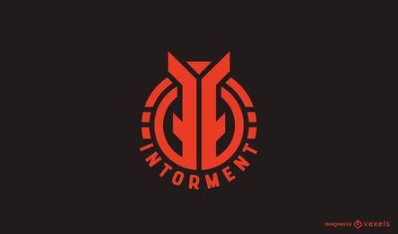 Plantilla de logotipo circular abstracto