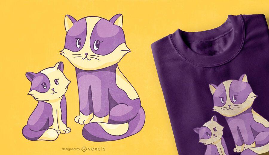 Cat and kitten t-shirt design
