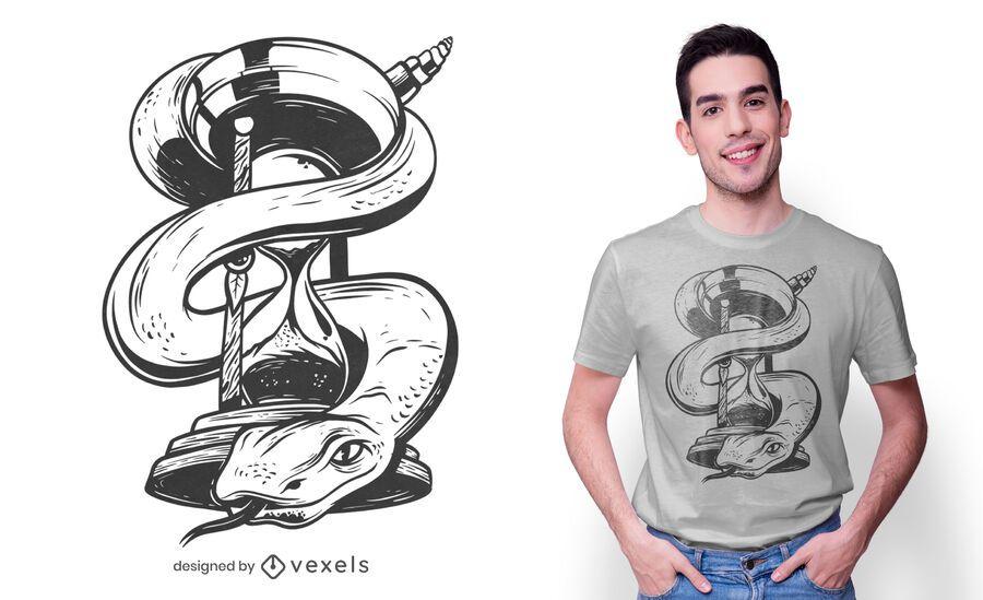 Hourglass snake t-shirt design