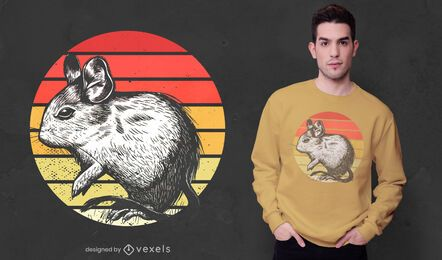 Design de t-shirt degu Sunset