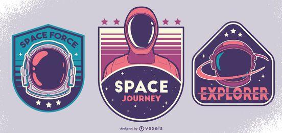 Conjunto de diseño de insignia de fuerza espacial