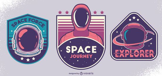 Space force badge design set