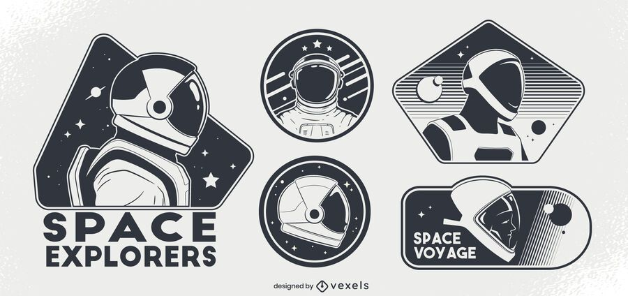 Astronauts space badge set