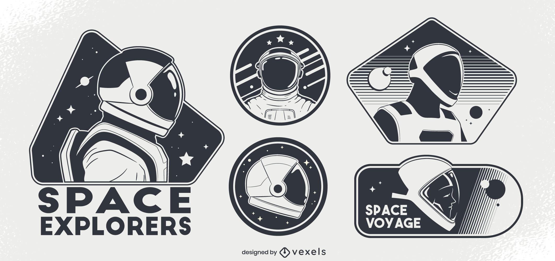 Conjunto de insignias espaciales de astronautas