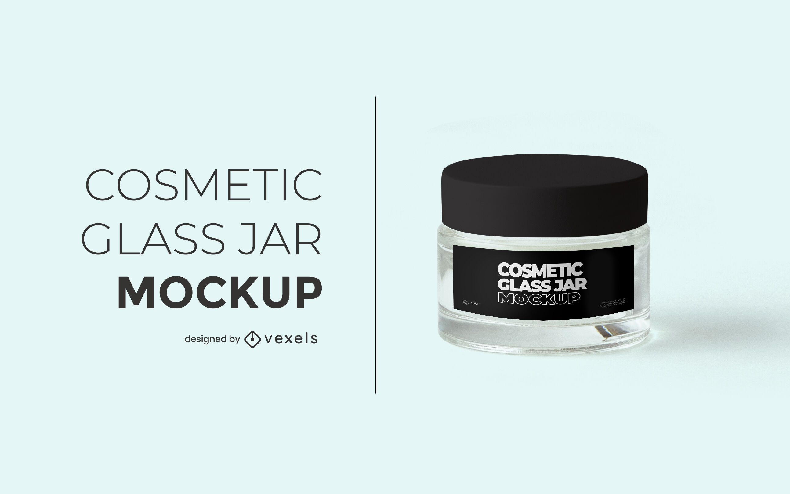 Cosmetic glass jar mockup design