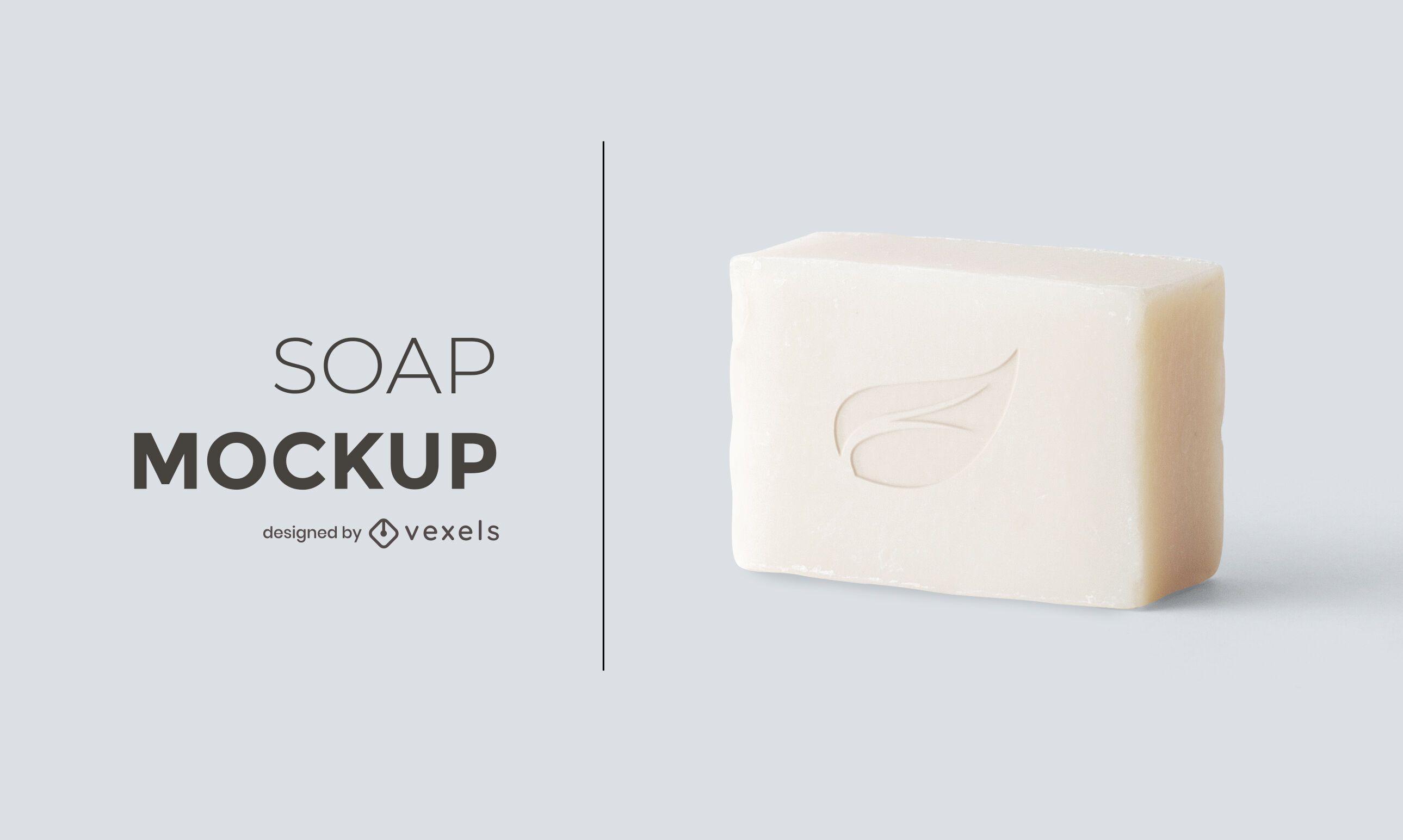 Design de maquete de sabonete
