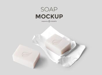 Soap set mockup design