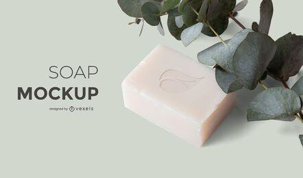 Diseño de maqueta de naturaleza de jabón
