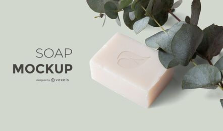 Soap nature mockup design