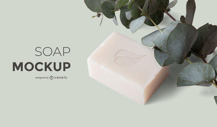 Soap nature mockup design
