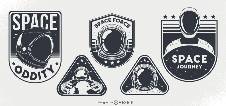 Conjunto de design de distintivo de estranheza espacial
