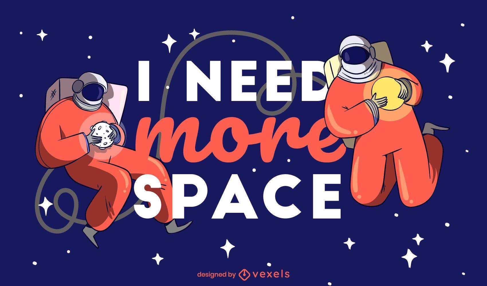 Benötigen Sie mehr Raumillustration