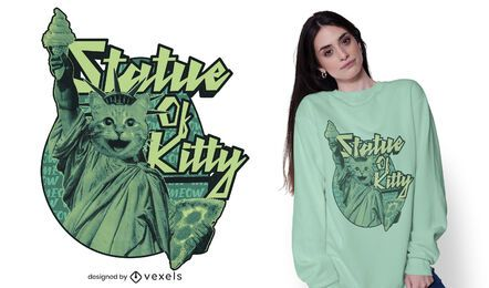 Statue of kitty t-shirt design