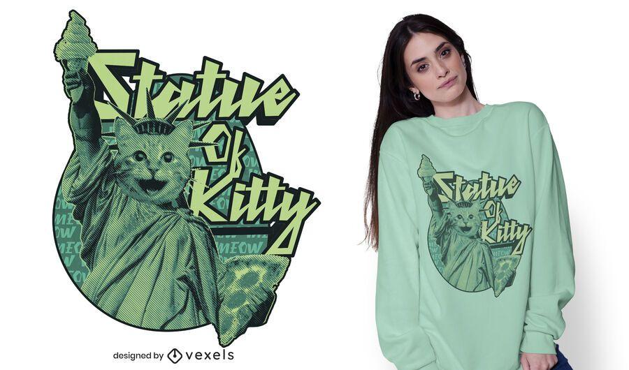 Statue of kitty t-shirt design