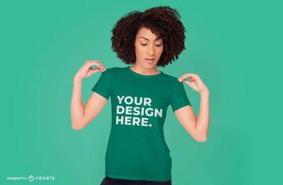 Diseño psd de maqueta de camiseta de mujer