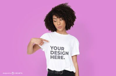 Woman t-shirt psd mockup design