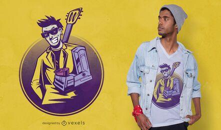 Design de camiseta para homem Cyberpunk