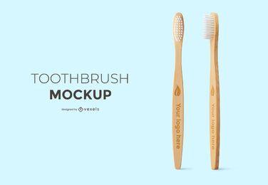 Design de maquete de conjunto de escova de dentes