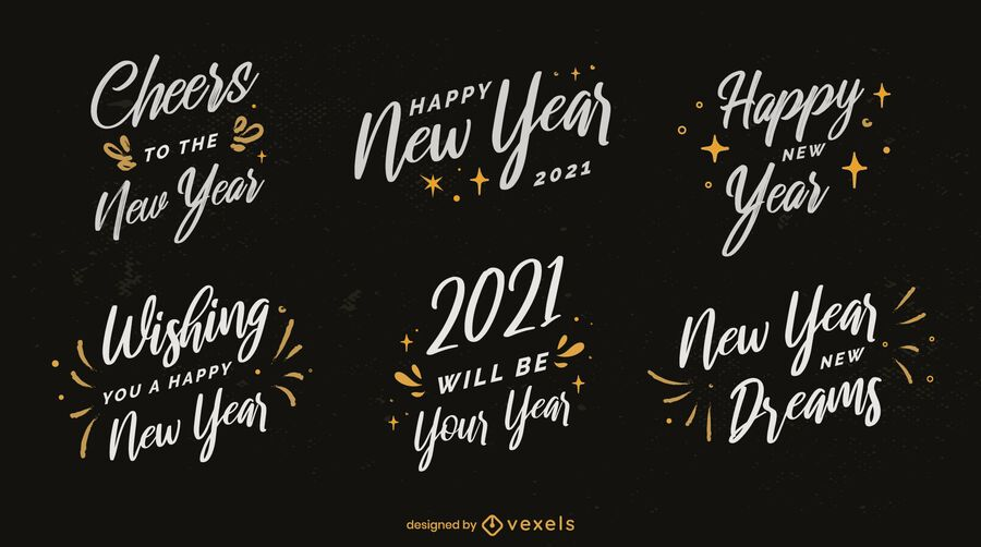 New year 2021 badge pack