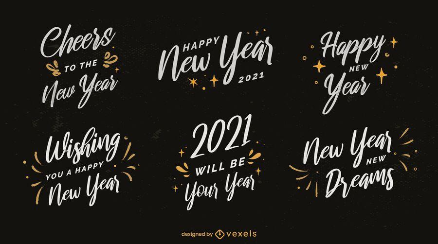 Pacote de emblemas de ano novo 2021