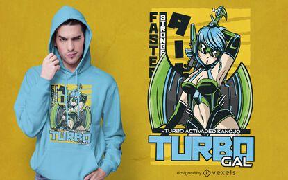 Diseño de camiseta turbo gal