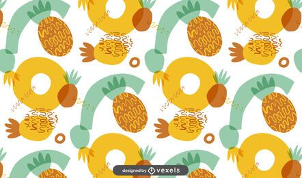 Desenho abstrato de abacaxis