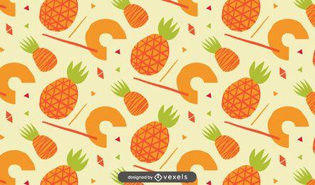 Desenho de padrão de abacaxi