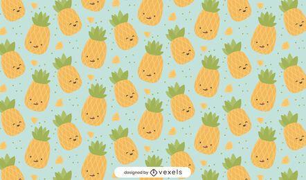 Desenho de padrão de abacaxi fofo