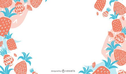 Pineapple background design