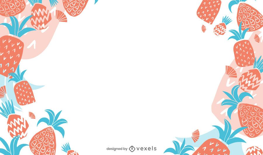 Desenho de fundo de abacaxi