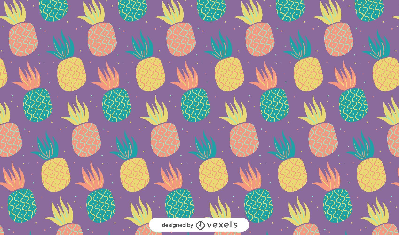 Diseño de patrón de piñas Doodle