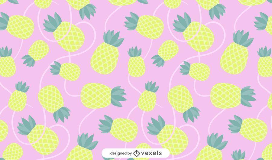 Desenho de padrão de abacaxi liso