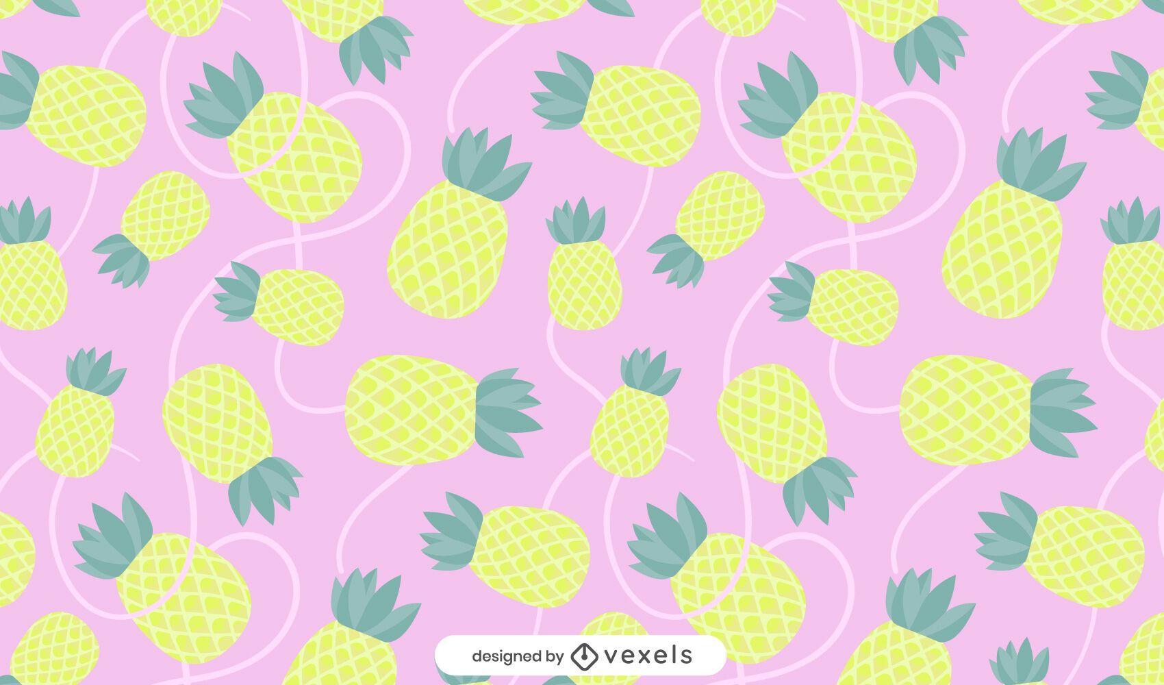 Flaches Ananasmusterdesign