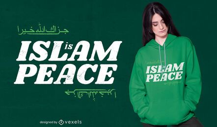 Diseño de camiseta Islam is peace