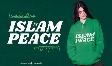 Diseño de camiseta Islam is peace