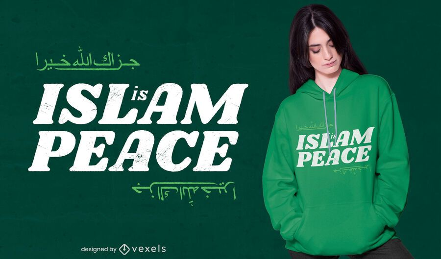 Islam is peace t-shirt design