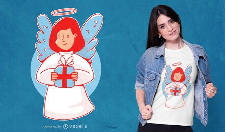 Christmas angel t-shirt design