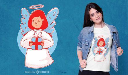 Design de t-shirt de anjo de natal
