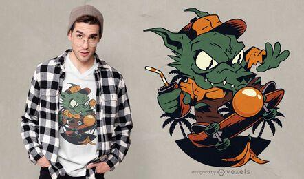 Skater werewolf t-shirt design