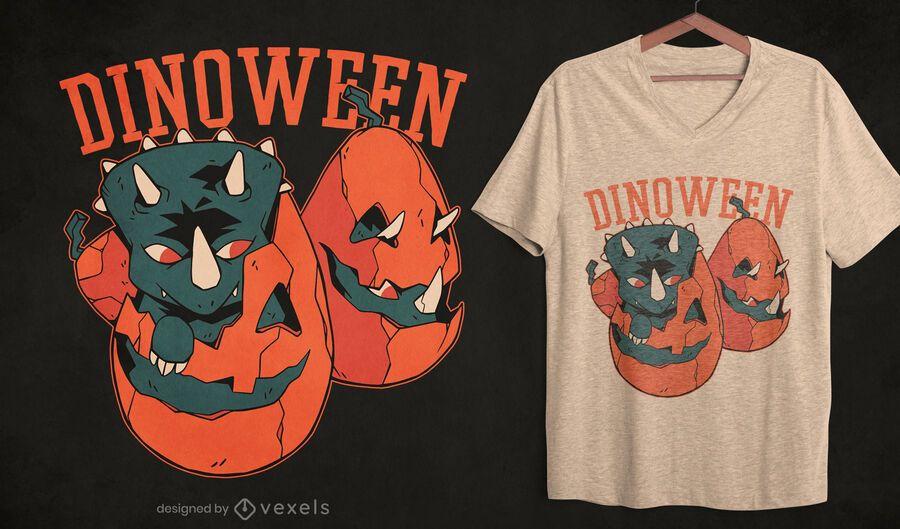 Diseño de camiseta Dinoween