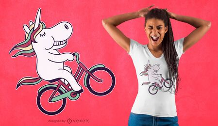 Cyclist unicorn t-shirt design