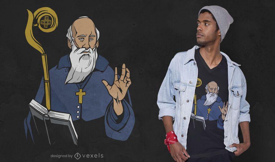 Saint Benedict t-shirt design
