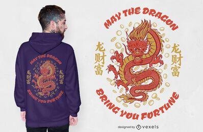 Design de camiseta com dragão da Fortune