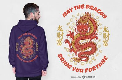 Diseño de camiseta Fortune Dragon