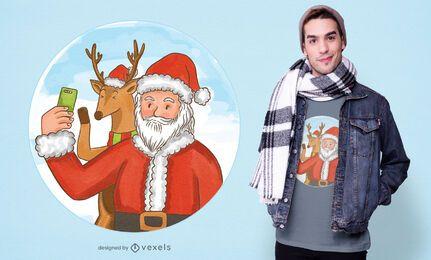 Santa selfie t-shirt design