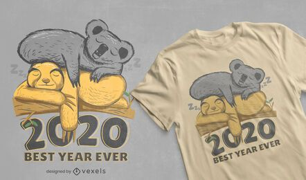 Koala and sloth t-shirt design