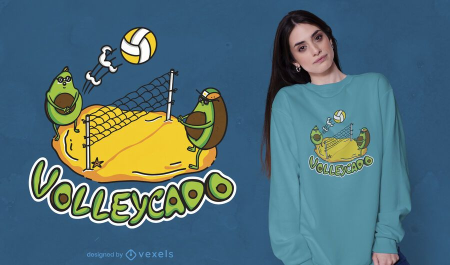 Avocado volleyball t-shirt design